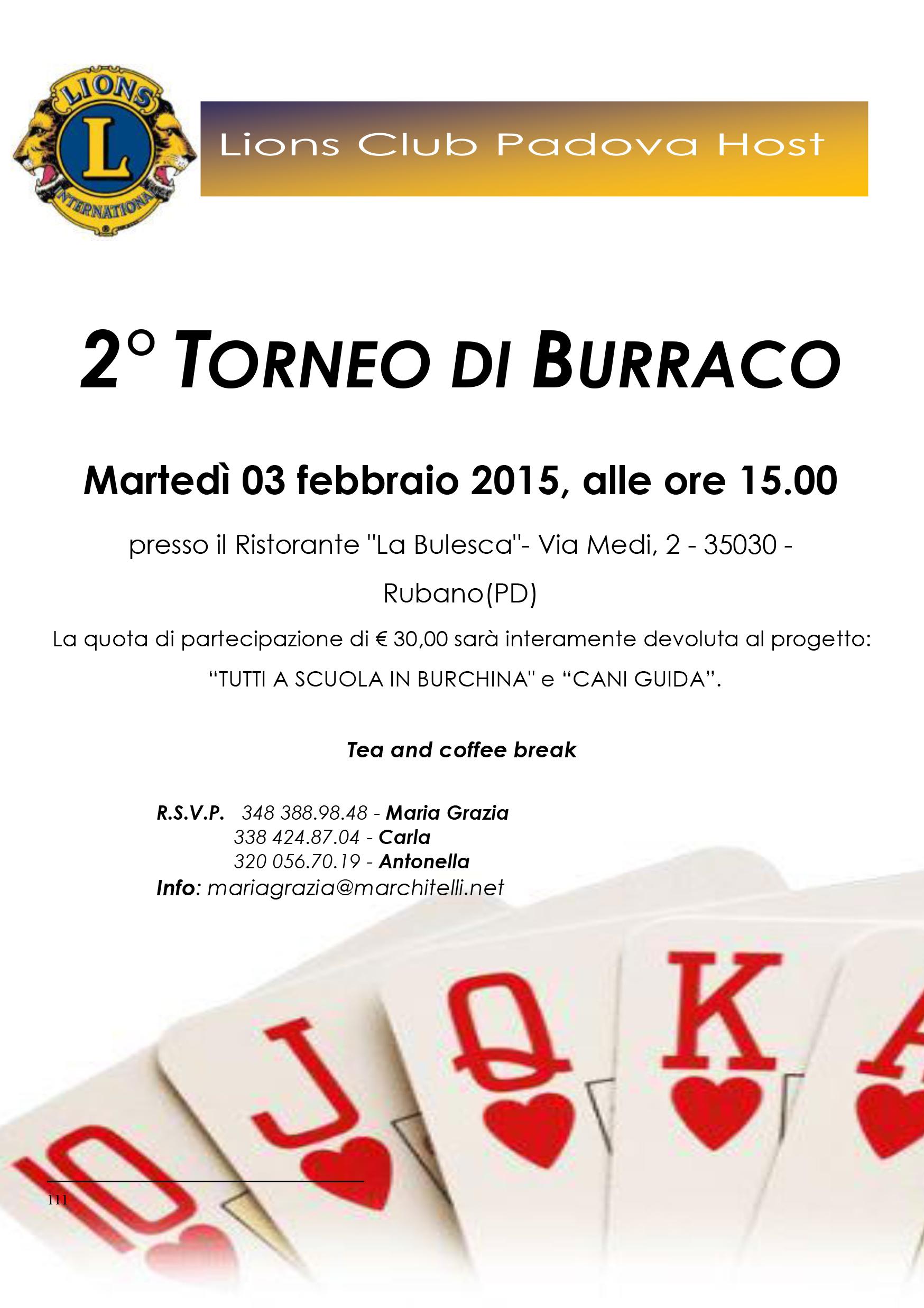 Burraco Lions 2014