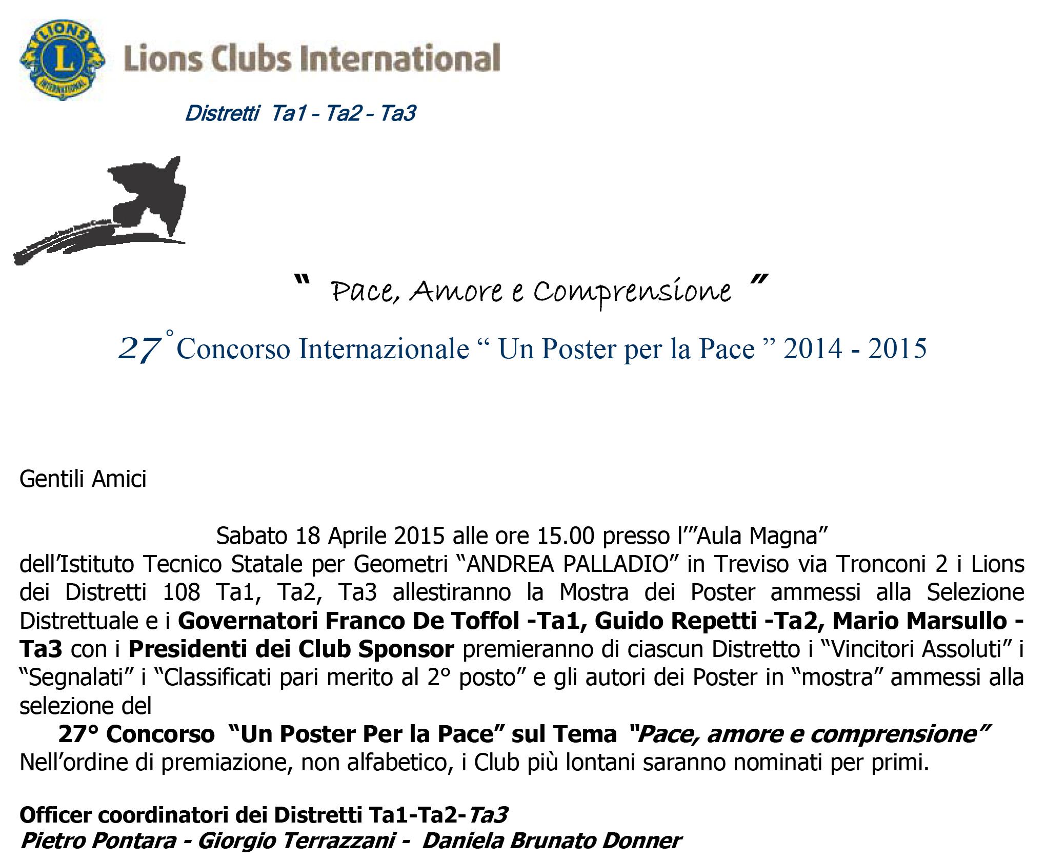 2014-2015 - premiazione poster a treviso 2