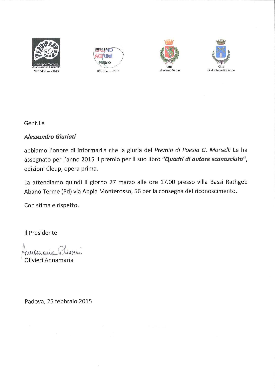 Premio Morselli 2015