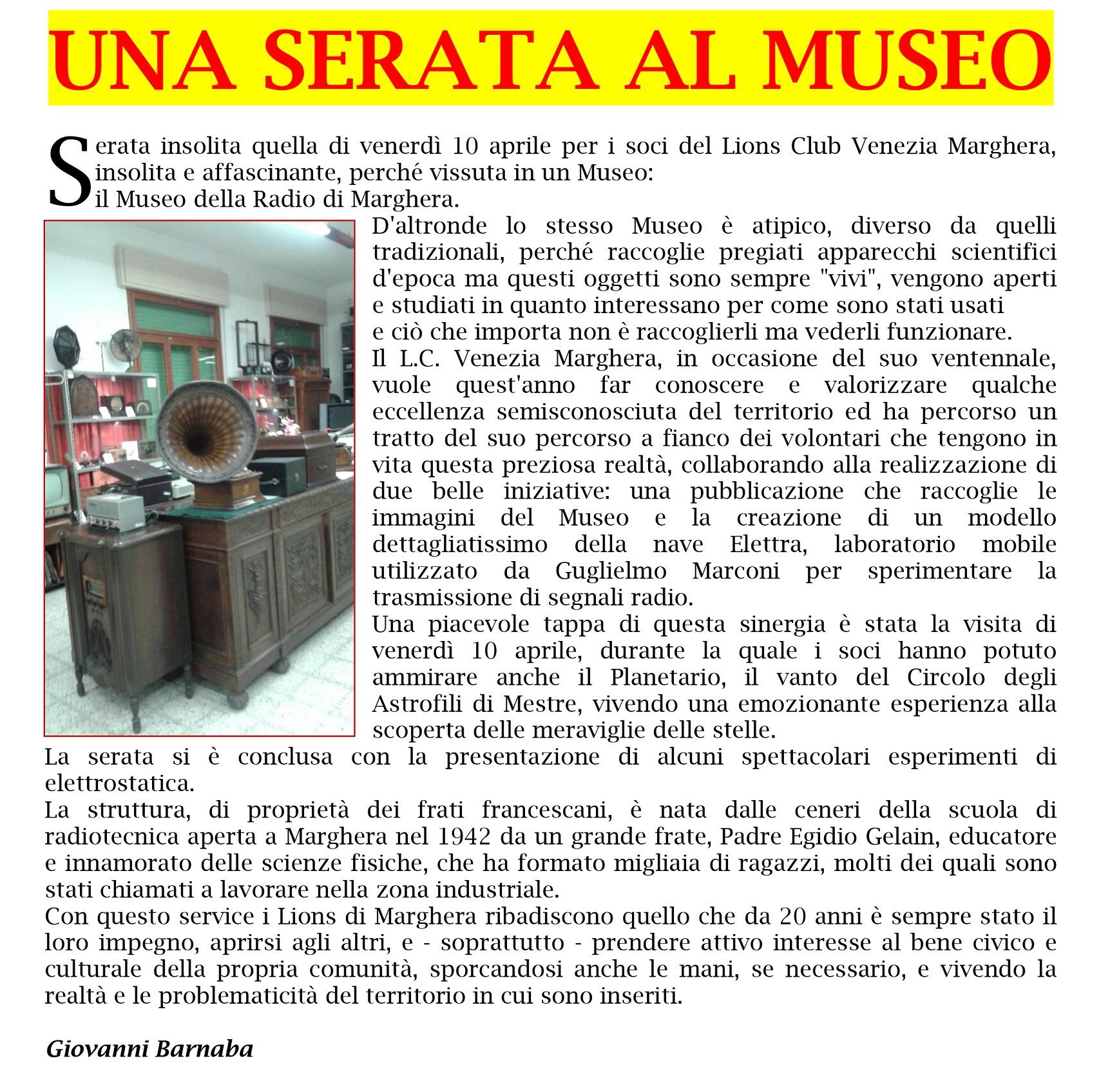 MUSEO DELLA RADIO DI MARGHERA