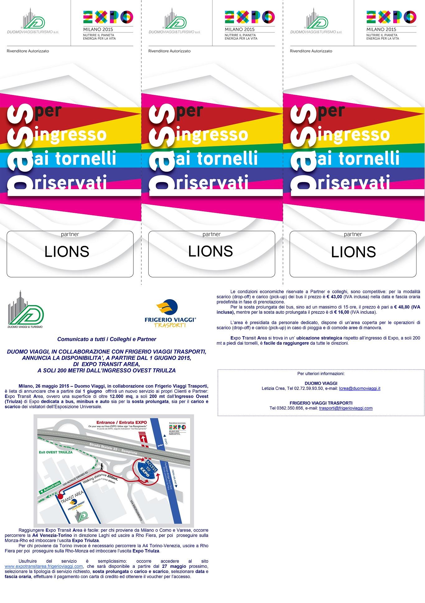 Comunicato Expo Transit Area x Duomo Viaggigate