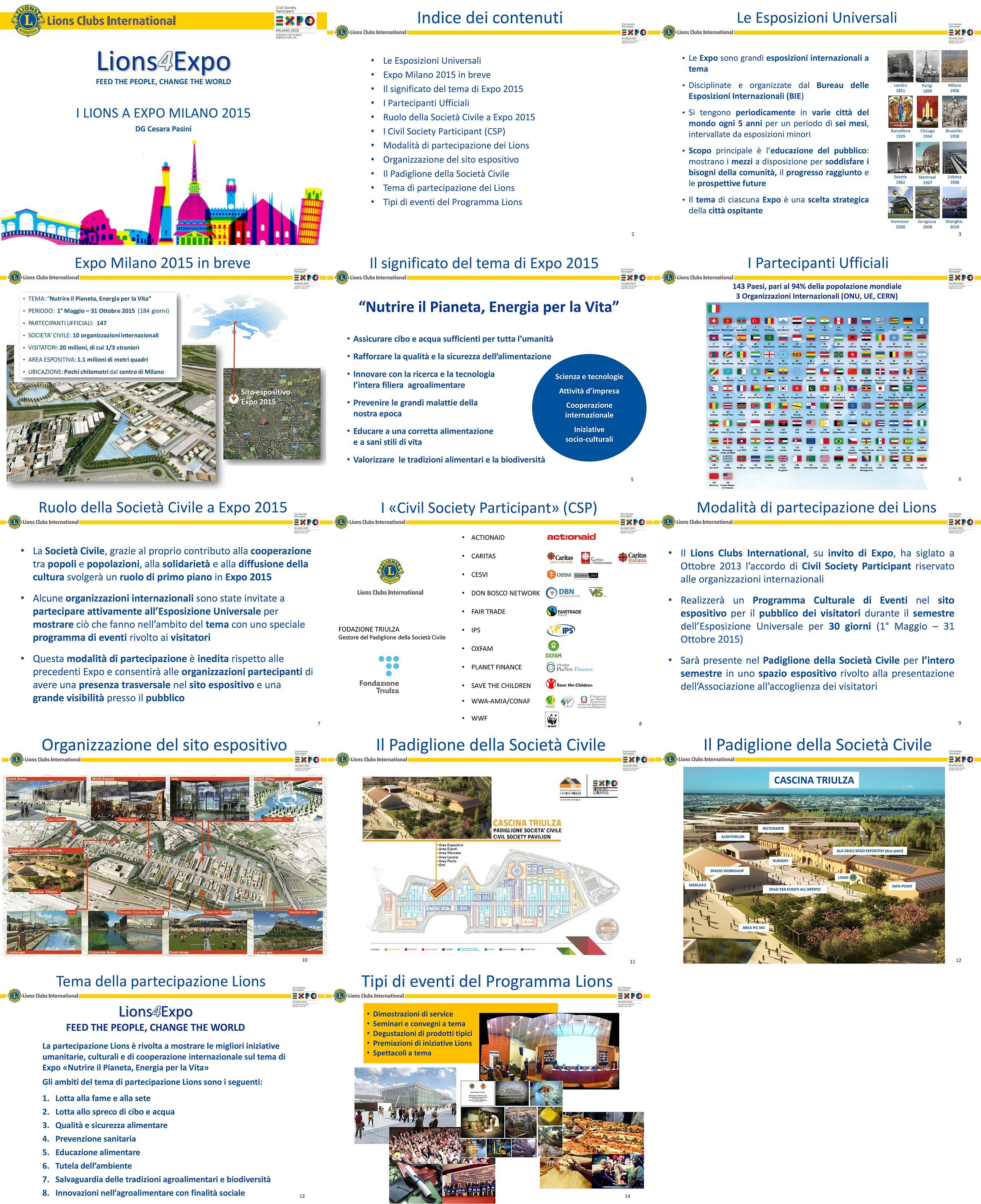 Presentazione Lions4Expo 18-08-2014