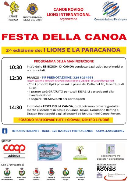 Volantino FESTA della CANOA 14 giu 2015