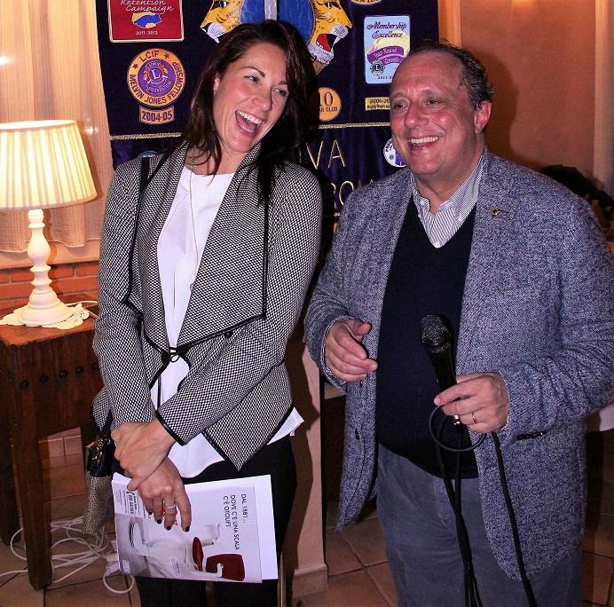 Elisa Dilavanzo-Antonino Librici presidente Club Padova Graticolato Romano